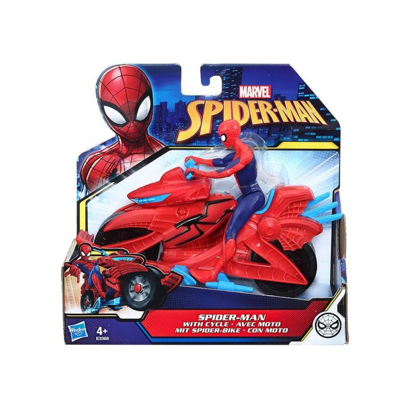 Spiderman Personaggio Con Veicolo - Hasbro  - MazzeoGiocattoli.it