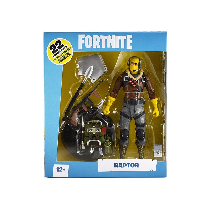 Statuetta Action Figure Raptor - Fortnite  - MazzeoGiocattoli.it