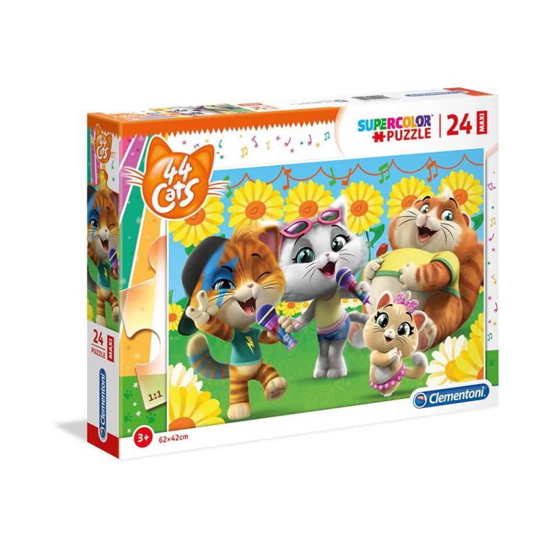 Super Color Puzzle 44 Gatti - Clementoni  - MazzeoGiocattoli.it