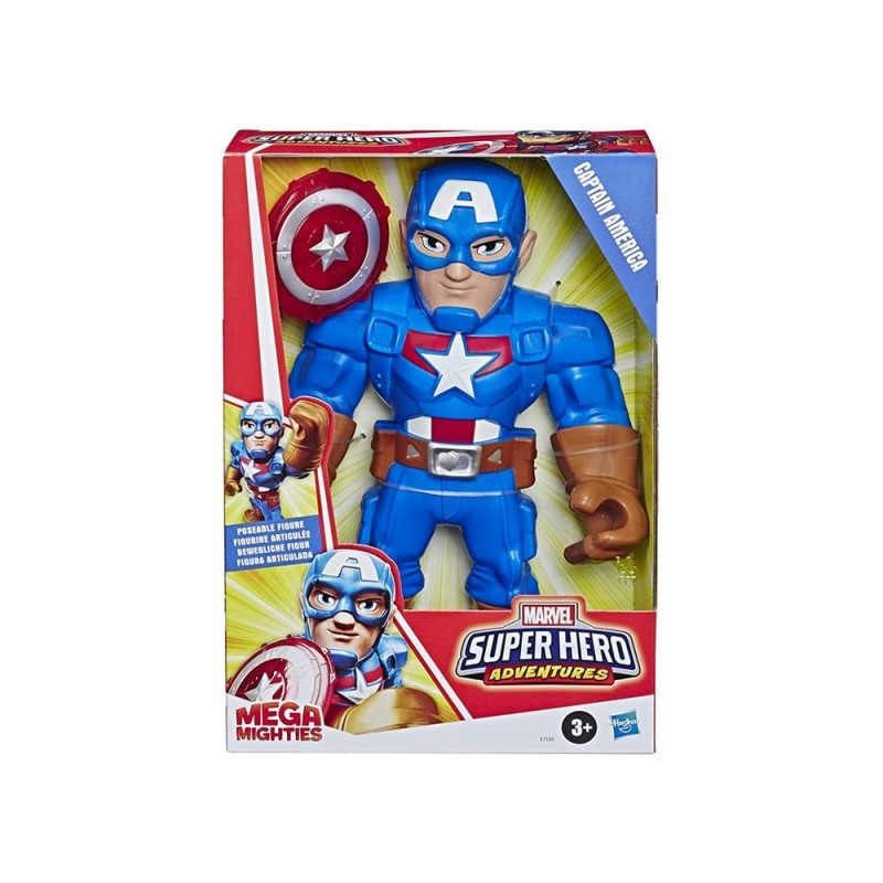 Super Hero Adventures Mega Mighties Capitan America - Hasbro - MazzeoGiocattoli.it