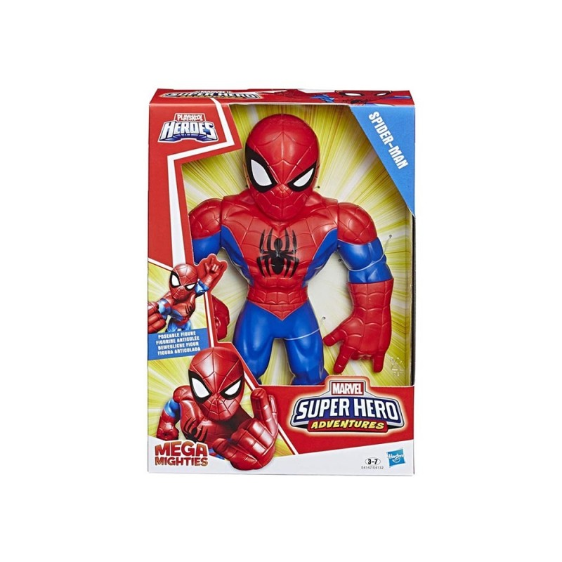 Super Hero Adventures Mega Mighties Spider Man - Hasbro - MazzeoGiocattoli.it
