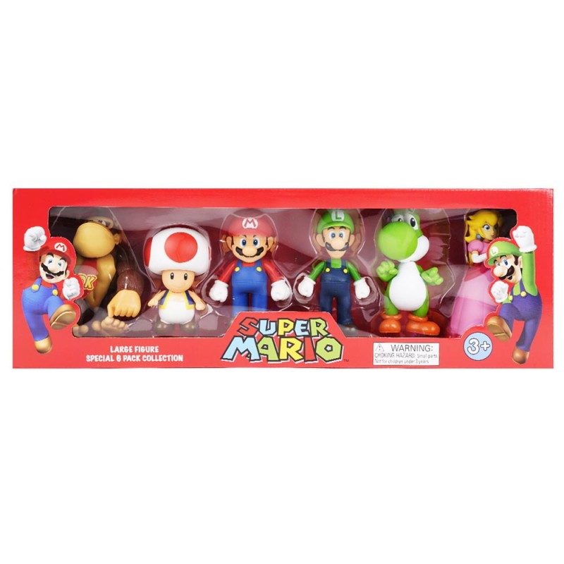 Super Mario Large 6 Figure Box Set - MazzeoGiocattoli.it