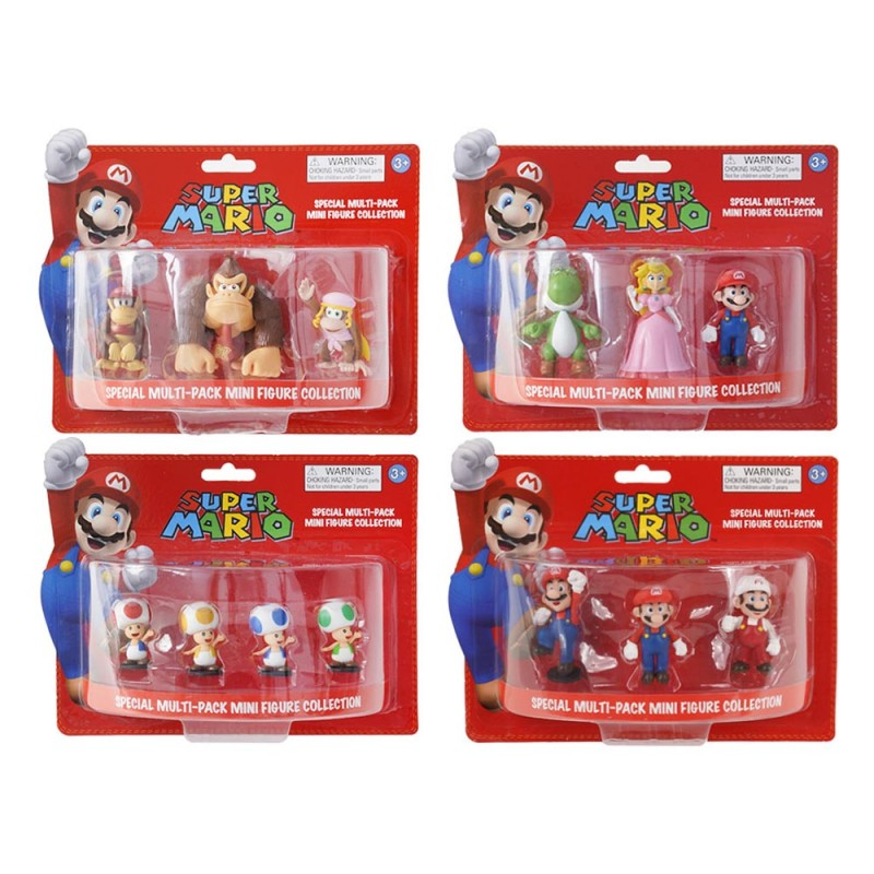 Super Mario Special Multi-Pack 3 Mini Figure Collection - Nintendo - MazzeoGiocattoli.it