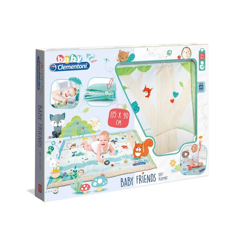 Tappeto Baby Friends Soft Play Mat - Clementoni  - MazzeoGiocattoli.it