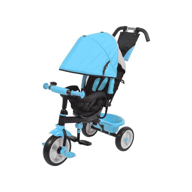 Triciclo A Pedali Azzurro Con Sedile Imbottito  - MazzeoGiocattoli.it