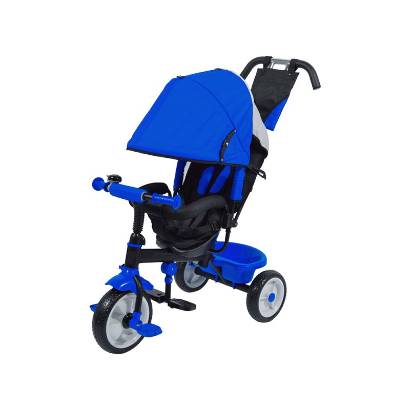 Triciclo A Pedali Blu Con Sedile Imbottito  - MazzeoGiocattoli.it