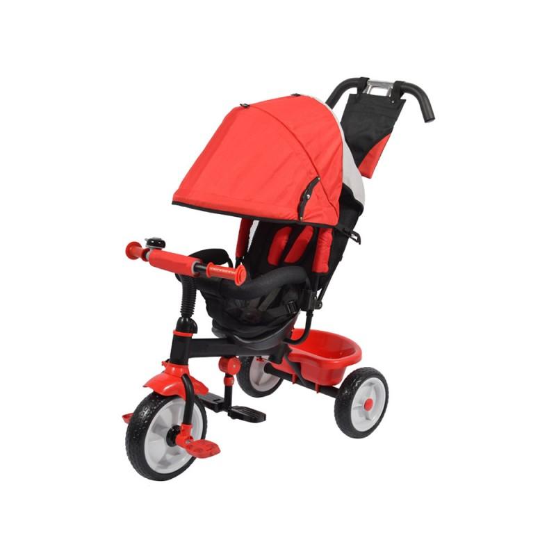 Triciclo A Pedali Rosso Con Sedile Imbottito  - MazzeoGiocattoli.it
