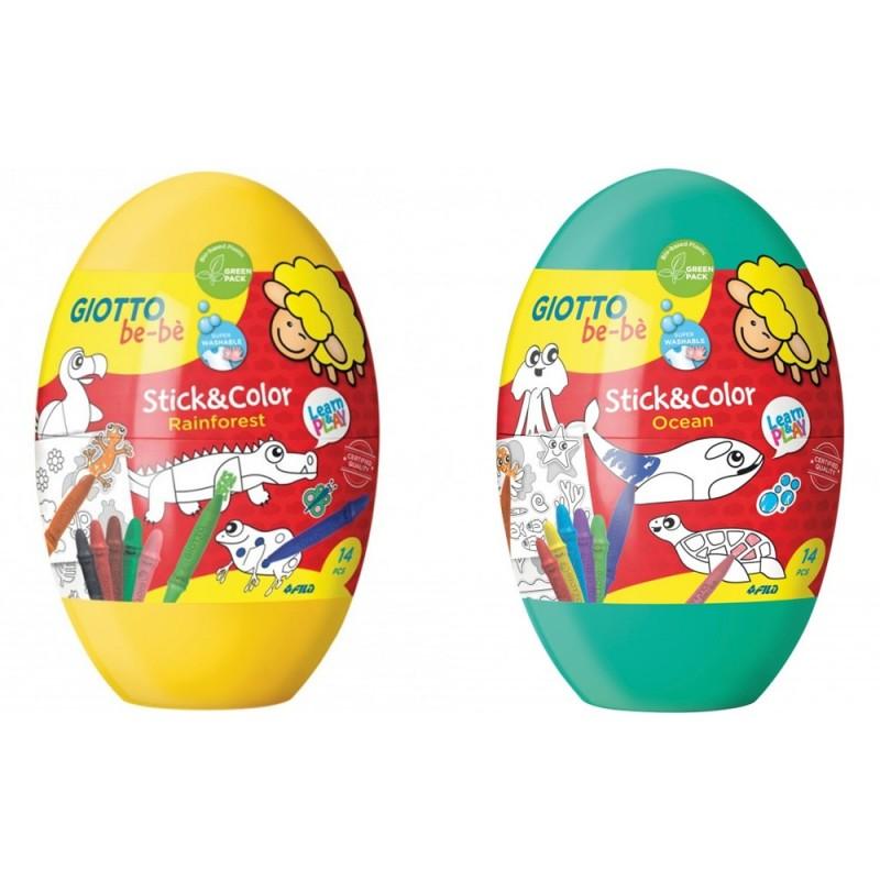 Bebè Uovo Stick&Color - Giotto  - MazzeoGiocattoli.it