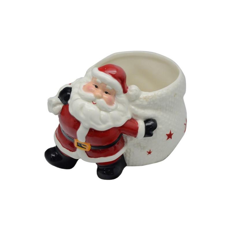 Vaso Con Raffigurazione Di Babbo Natale - MazzeoGiocattoli.it