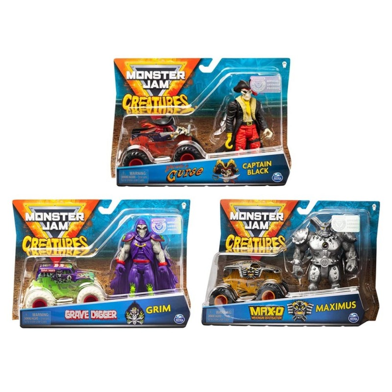Veicolo Monster Jam Creatures - Spin Master - MazzeoGiocattoli.it