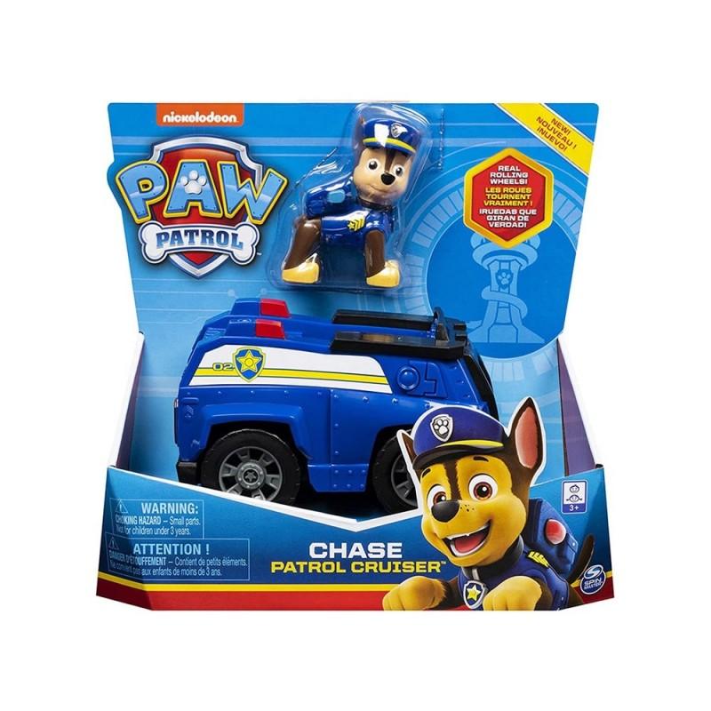 Veicolo Paw Patrol Con Personaggio Chase - Spin Master - MazzeoGiocattoli.it