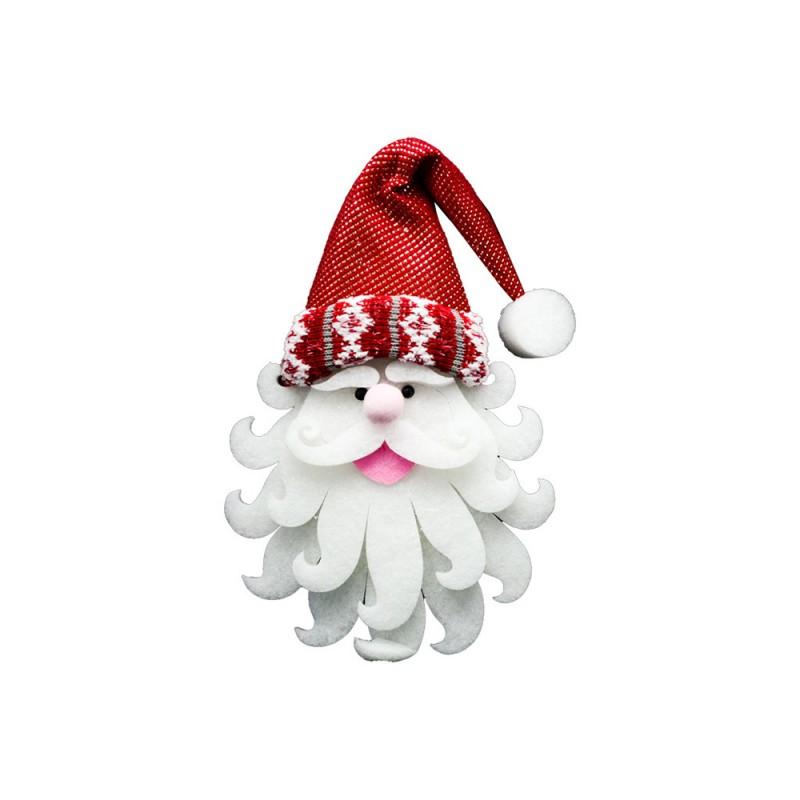 Volto Di Babbo Natale Decorativo - Mazzeo Giocattoli  - MazzeoGiocattoli.it