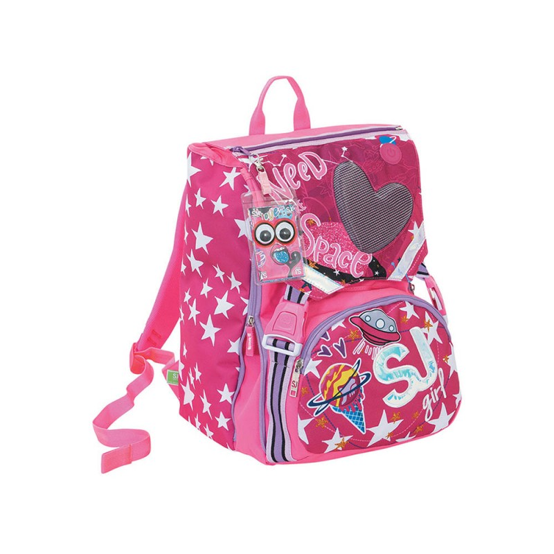 Zaino Big Seven Sj Gang Led Tech Girl - Seven - MazzeoGiocattoli.it