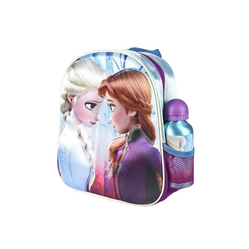 Zaino Per Bambini 3D Frozen Viola Azzurro  - MazzeoGiocattoli.it