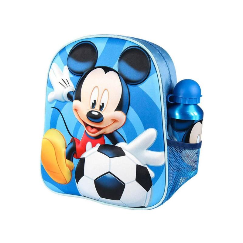 Zaino Per Bambini 3D Mickey Mouse Azzurro  - MazzeoGiocattoli.it