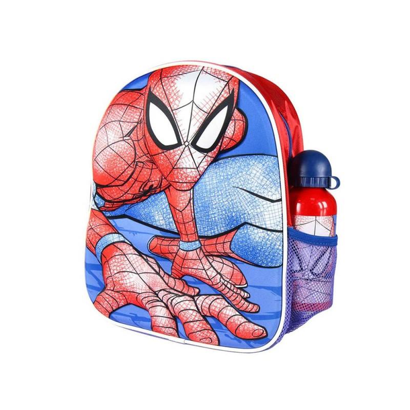 Zaino Per Bambini 3D Spiderman Rosso Azzurro - MazzeoGiocattoli.it
