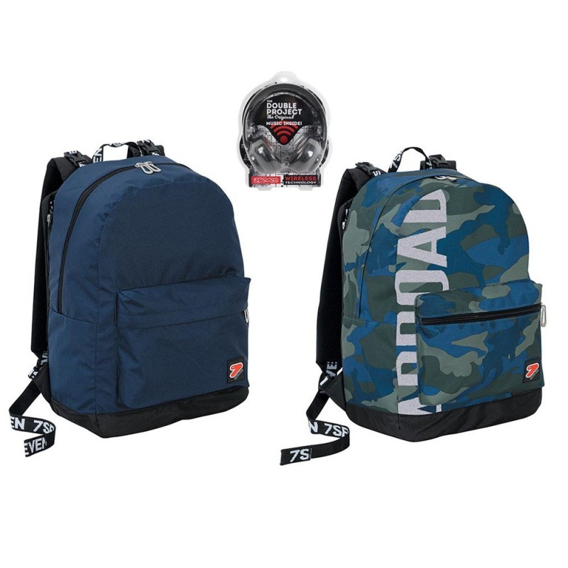 Zaino Reversibile Camo Royal - Seven  - MazzeoGiocattoli.it