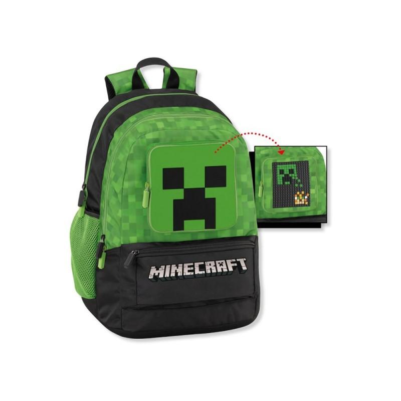 Zaino Scuola Organizzato Minecraft  - MazzeoGiocattoli.it