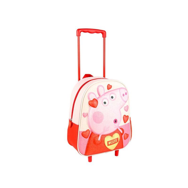 Zaino Trolley Asilo Peppa Pig 3d  - MazzeoGiocattoli.it