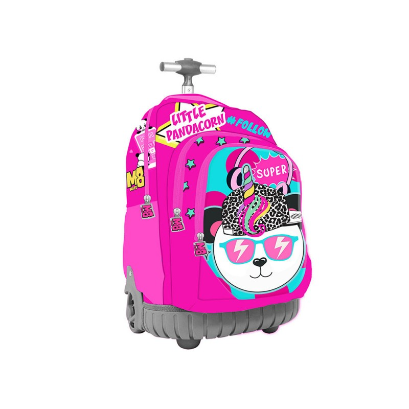 Zaino Trolley Scuola Panda Unicorno Child Girl  - MazzeoGiocattoli.it